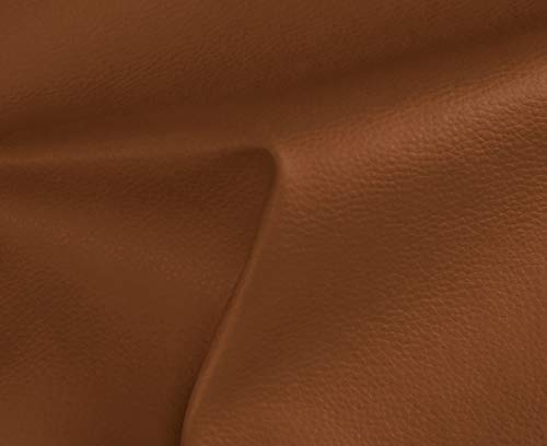 HAPPERS 0,50 Metros de Polipiel para tapizar, Manualidades, Cojines o forrar Objetos. Venta de Polipiel por Metros. Diseño Solar Color Cuero Ancho 140cm