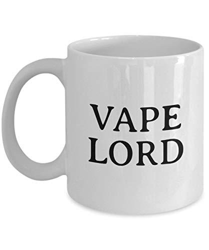 Lplpol Weiße Tasse mit lustigem Vaping-Geschenk – Vaping-Kaffeetasse – E – Zigaretten-Fans Geschenk – Vape Lord einzigartiges Festival-Geburtstagsgeschenk 313 ml