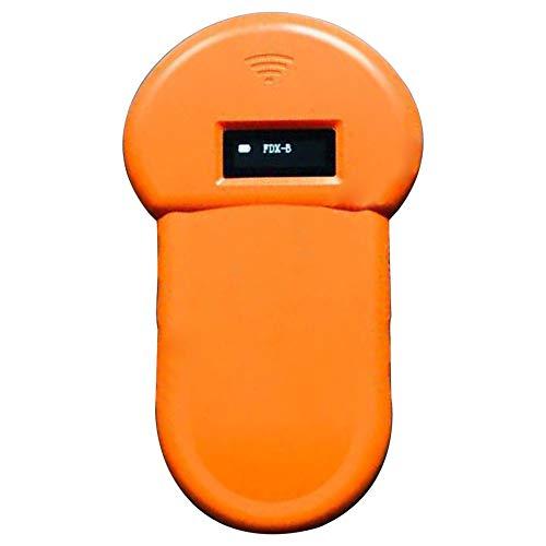 Lettore di ID per animali, Scanner di posizionamento GPS per scanner per animali domestici Tracker elettronico antifurto, Lettore RFID per animali domestici 134,2 Khz con schermo LCD portatile