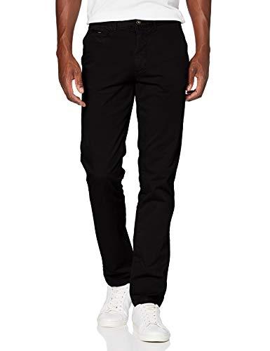Cortefiel Chino Liso Slim Pantalones, Negro (Negro 1), 42 (Tamaño del Fabricante: 42) para Hombre