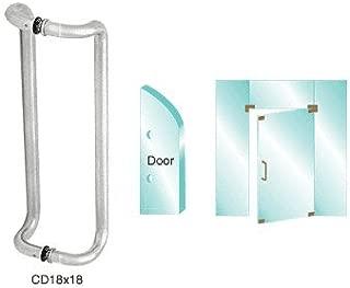 C.R LAURENCE C1166 CRL Wood//Black Inside Pull 8-1//2 Screw Holes for Capitol Brand Doors