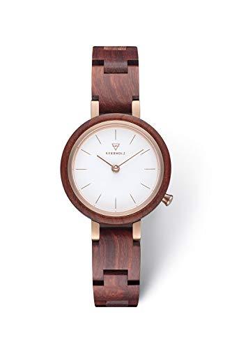 KERBHOLZ Holzuhr – Classics Collection Matilda analoge Quarz Uhr für Damen, Gehäuse...