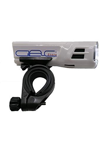 Glac Store™ Linterna LED para bicicleta MTB con soporte para faro delantero,...
