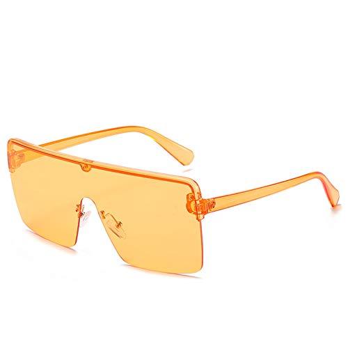 SXRAI Gafas de Sol de Gran tamaño Gafas de Sol de Moda para Mujer Gafas de Sol para Hombre Gafas Coloridas Uv400,C5