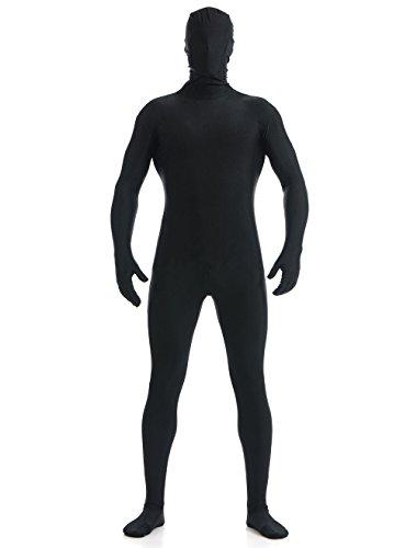YUUWA 全身タイツ コスチューム ブラック メンズ Lサイズ