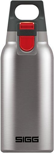 SIGG Hot & Cold ONE Brushed Thermo Trinkflasche (0.3 L), schadstofffreie und isolierte Trinkflasche, einhändig bedienbare Thermo-Flasche aus Edelstahl