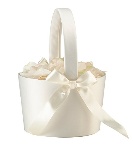 Lillian Rose FB100 C Elegant Simple Large Flower Girl Basket, Cream