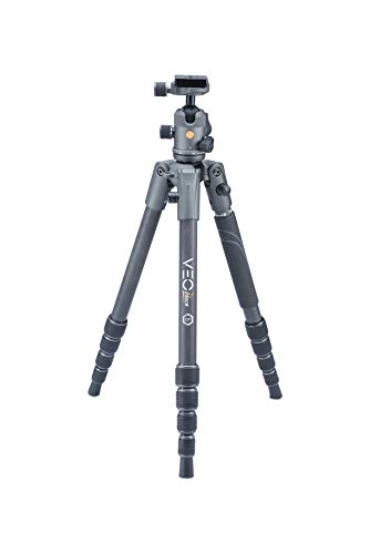 Vanguard VEO2S235CB Carbon Fiber Travel Tripod with Ball Head, Monopod Option, Smart Phone Holder, Spiked Feet, and Tripod Bag