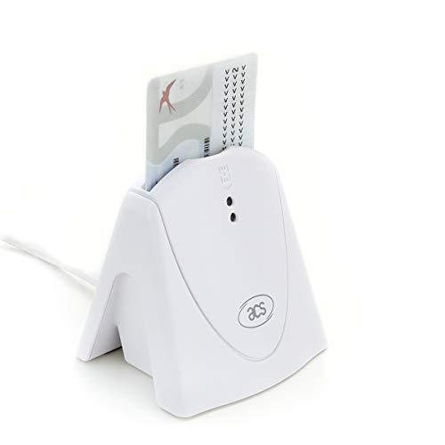 ACS ACR39U-H1 Chipkartenleser Kartenleser Fahrerkarte Smart Card Reader USB eID, Weiß