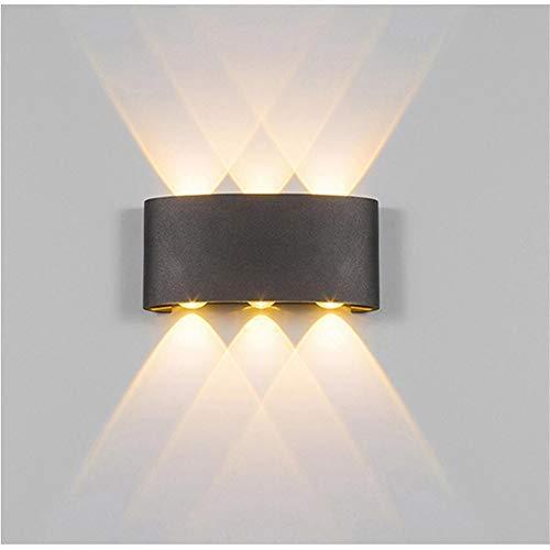 XHSHLID wandlampen Home Corridor LED wandlamp aluminium dubbelkop Up and Down Light zwart/wit gebogen nachtlampje