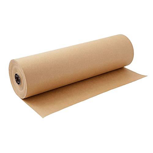 Exceart Papier siarczanowy w rolce, brązowy, papier prezentowy, opakowanie na prezent, do rzemiosła artystycznego, kwiaty, bukiet kwiatów, opakowanie pocztowe, bieżnik na stół