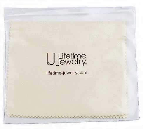 Lifetime Jewelry Polishing Cloth New and Improved Professional Cleaner for Gold or Rhodium Plated Jewelry Comes in Plastic Storage Pouch 5 x 6 Inches