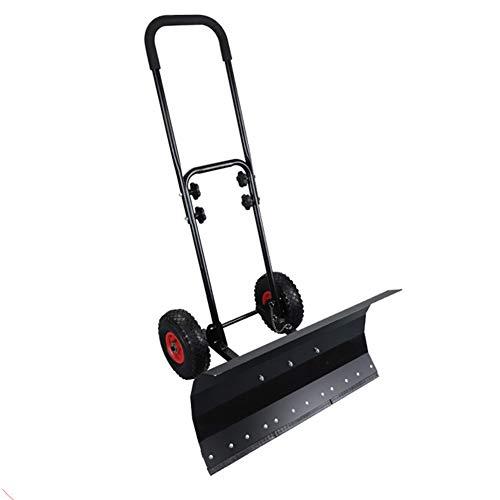Wheeled Schneeschaufel Heavy Duty Schnee Mover mit justierbarer Handgriff & Groß Plow Schneeschieber für Garten Innenhof Doorway Auffahrt Pavement