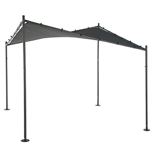Hespéride - Cenador de jardín Certeli – L 3 x L. 3 m – Gris