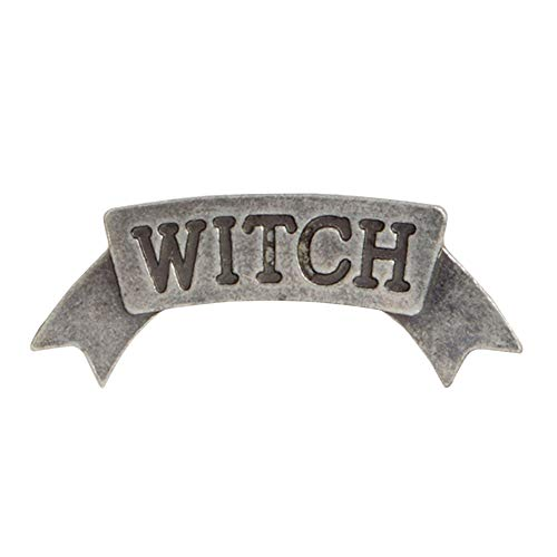 little finger Witch Moon Star Letter Print Lapel Badge Beautiful and Lovely Jewelry Clothes Decor Rhinestone Vintage Brooch Pin 1#