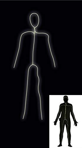 Guirca SL. - 84268 Survêtement Noir pour Homme, élastique, Brillant, Couleur Noire, Taille Unique