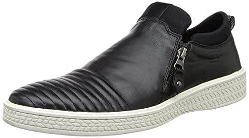 Woodland Men Black Leather Moccasins-10 UK/India (44 EU) (OGW 2166116)
