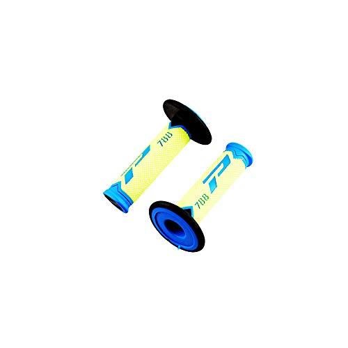 revetement/poignee progrip 788 Bleu/Jaune Fluo/Noir (pr) Triple densite 115mm