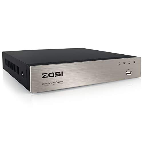 ZOSI 8CH H.265+ 4in1 1080N 720P HD DVR Receiver Netzwerk Digital Video Recorder Aufzeichnungsgerät ohne Festplatte, HDMI VGA Ausgang, Unterstützt AHD TVI CVI Analog 720P 1080P Kamera