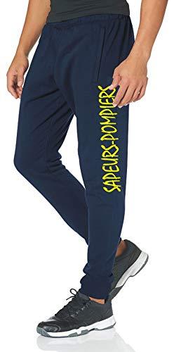 feuer1 Pantalon bleu marine SAPEURS-POMPIERS, jaune L bleu marine