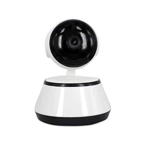 TOOGOO V380 Phone APP HD 720P Mini Camara IP Camara Wifi Camara de seguridad P2P inalambrica Vision nocturna Robot IR Soporte para monitor de bebe (Tarjeta SD no incluida) (Color: Blanco)