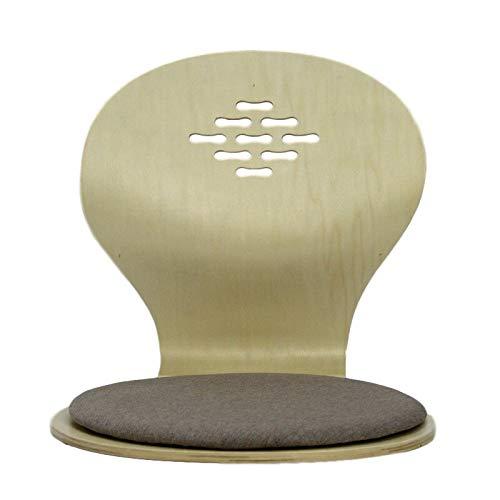 SPFOZ Haus Dekoration (4 Teile/los) japanische Bodenstuhl sitzend schwarz/Kirsche/natürliche Wohnzimmer möbel Tatami zaisu Boden Legless Stuhl großhandel (Color : B Natural Finish)