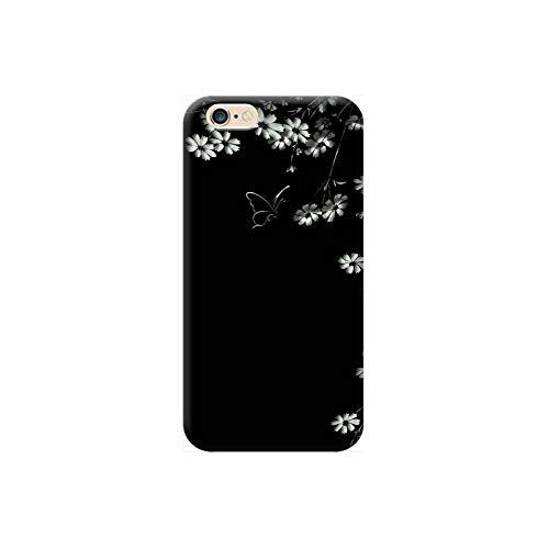 TheBigStock Cover Custodia per Tutti Modelli Apple iPhone x 8 7 6 6s 5 5s Plus 4 4s 5c TPU - AA09 Fiori e Farfalle in Bianco e Nero, iPhone 4
