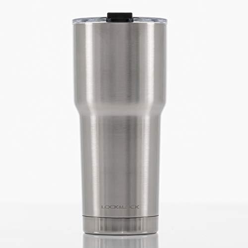 LOCK & LOCK Thermobecher to go - SWING TUMBLER - Isolierflasche Edelstahl auslaufsicher - Thermo Isolierbecher Kaffee, Tee & Kaltes, 700ml, schwarz