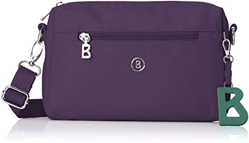 Bogner Damen Verbier Pukie Shoulderbag Shz Schultertasche, Violett (Purple), 4x15x22 cm