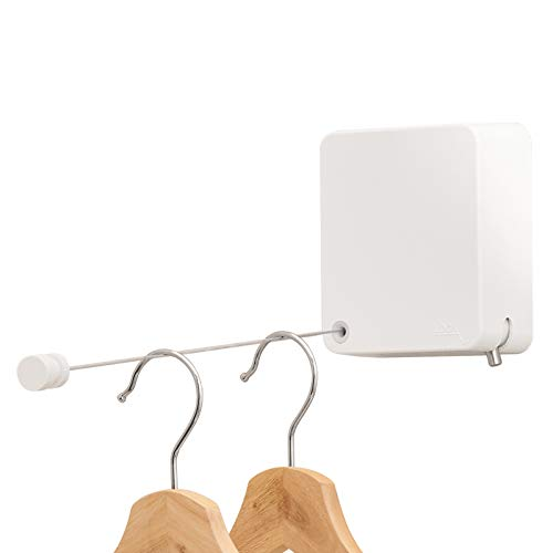 Retractable Clothesline Heavy Duty Clothes Drying Laundry Line Indoor Outdoor Wall Mounted Drying Rack Clothing Lock to Prevent Sagging and Adjustable Thin Modern Aesthetic Design Type
