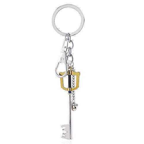 MINTUAN Portachiavi Key Chain Portachiavi Kingdom Hearts Collana con Ciondolo Portachiavi in Metallo con Cuore di Pesca