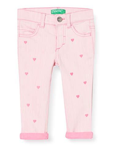 UNITED COLORS OF BENETTON Jeans Pantalon, Rose (Sugar Plum 40j), 80/86 (Taille Fabricant: 1Y) Bébé Fille