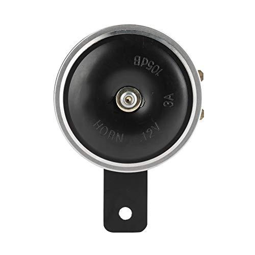 Esenlong Bocina de metal universal de 1105 dB, impermeable, para coche, camión, motocicleta, 7,6 cm, 12 V