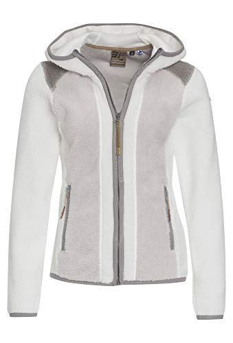 Icepeak Teddy-Fleece Jacke Colourblocked Weiss,XL