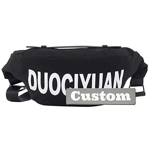 Borsa a tracolla casual da ragazza personalizzata personalizzata per le donne unisex crossbody (Color : Black, Size : One size)