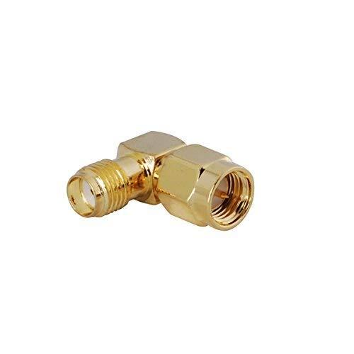 SHENMQ 50 stks goud SMA mannelijke naar SMA vrouwelijke rechte hoek in serie RF connector voor Ham Radio