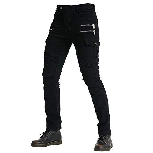 YXYECEIPENO 2021 Nuovi Jeans da Moto Pantaloni da Moto con Zip 4 Dispositivi di Protezione Rimovibili Proteggi Anche E Ginocchia Jeans da Ciclismo per Uomo E Donna (S-3XL, 3 Colori)