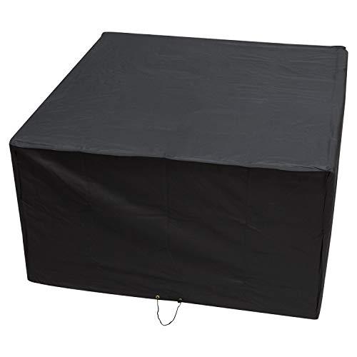 Housse de pluie Woodside Heavy Duty Rotin Cube pour jardin extérieur, noir