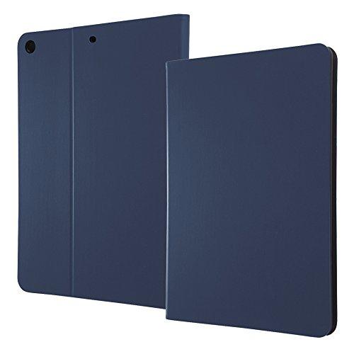 『レイ・アウト iPad 2017年春モデル 9.7inch レザーケース スタンド機能付き/ダークネイビー』のトップ画像