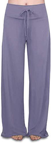 HLTPRO Pantalones de pijama para mujer, pantalones de pijama suaves, para mujer, floral, pierna ancha, cordón, casual, palazzo, ropa de dormir
