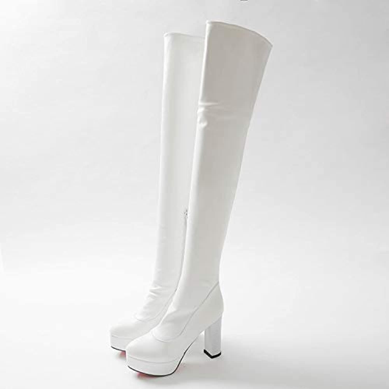 MENGLTX High Heels Sandalen Sandalen Mode Winter Neue High Heels Lange Stiefel Freizeit Elegante Frauen Schuhe Stiefel Spitzen Zehen Leder über Dem Knie Stiefel 8093  unglaubliche Rabatte