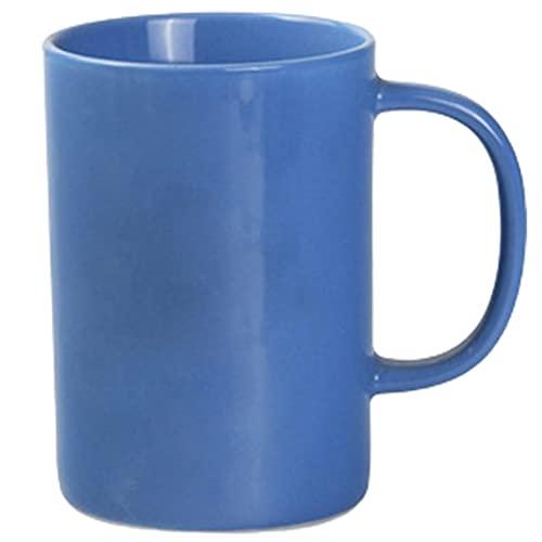 Taza De Porcelana De Color Sólido De 400 Ml Coffee Tea Latte Cappuccino Espresso Beer Taza De Cerámica con Mango Regalo para Amigos Y Familiares (Color : Blue)