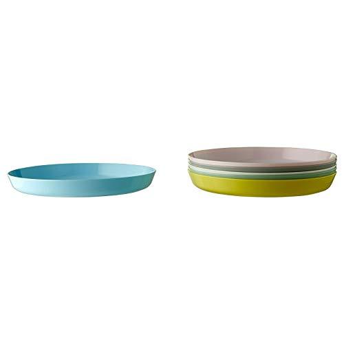 IKEA Kalas Platos de plástico pastel tazas, cuencos y cubiertos a elegir entre 4 opciones (Patrón: Platos 6 unidades) (Platos 6 unidades)