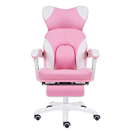 Anah Racing Style Gaming Chair - Liegender ergonomischer Lederstuhl mit Fußstütze, Büro- oder Gaming-Stuhl