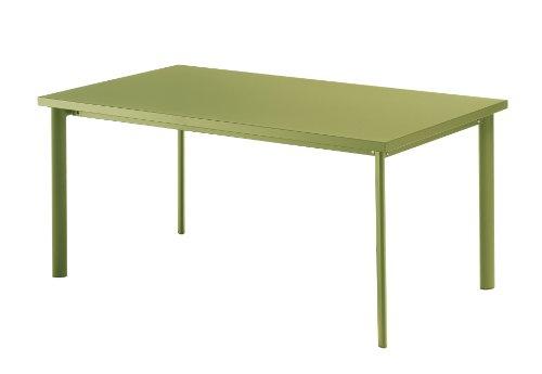 Emu 303076000 Star Tisch 307, 90 x 160 cm, pulverbeschichteter Stahl, grün