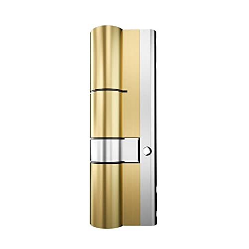Cilindro de latón con cerradura de puerta con llave de 10 piezas, cilindro de ranura de serpiente de latón con doble cara abierta de 65-110mm-80 (40-40)