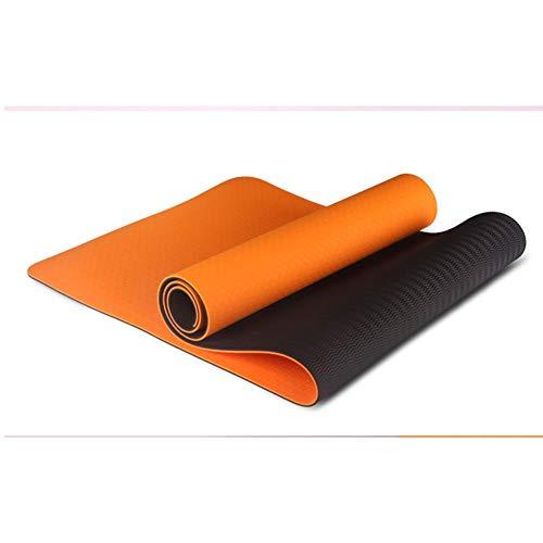 Viwiv yogamat, milieuvriendelijk en smaakloos, antislip, tweekleurig, TPE-yogamat, 6 mm dik en lang, geschikt voor indoorsport, voor mannen en vrouwen
