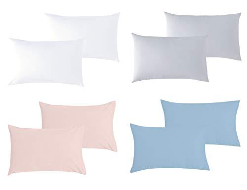 P'tit Basile - 2er Pack Baby Kissenbezüge - 2x 35x40 cm - Weiss - 100% Bio-Baumwolle, GOTS-zertifiziert und Oekotex-zertifiziert