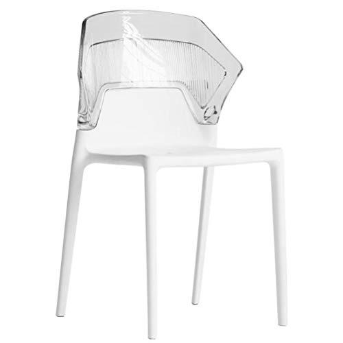PDFF Dining Chair, Ergonomie Rückenlehne, Nordic Transparent Rückenlehne Stuhl, Freizeit-Stuhl Für Den Heimgebrauch, Modern Minimalist Dining Chair, DREI Farboptionen,Clear