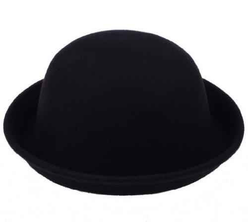 Y-BOA - Rétro Chapeau Melon Vintage – Noir - Laine- Femme/ Homme Modern- Voyage/Plage - Style Fedora Trilby – Casual